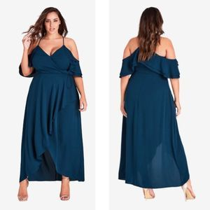 NEW City Chic Miss Jessica Maxi Dress 16 Emerald